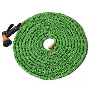 Image is loading Flexible-Garden-Water-Hose-Expandable-Spray-Nozzle-Pipe-  sc 1 st  eBay & Flexible Garden Water Hose Expandable Spray Nozzle Pipe Copper 25 50 ...
