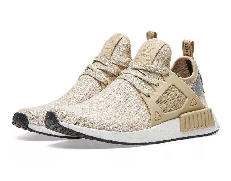 Mens Adidas NMD_XR1 Linen PK Khaki Colorway Size 13 Tan Primeknit Boost Shoes