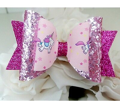 """Hair bow Stunning Large 5.5"""" Christmas Rosegold Dolly Stacker."""