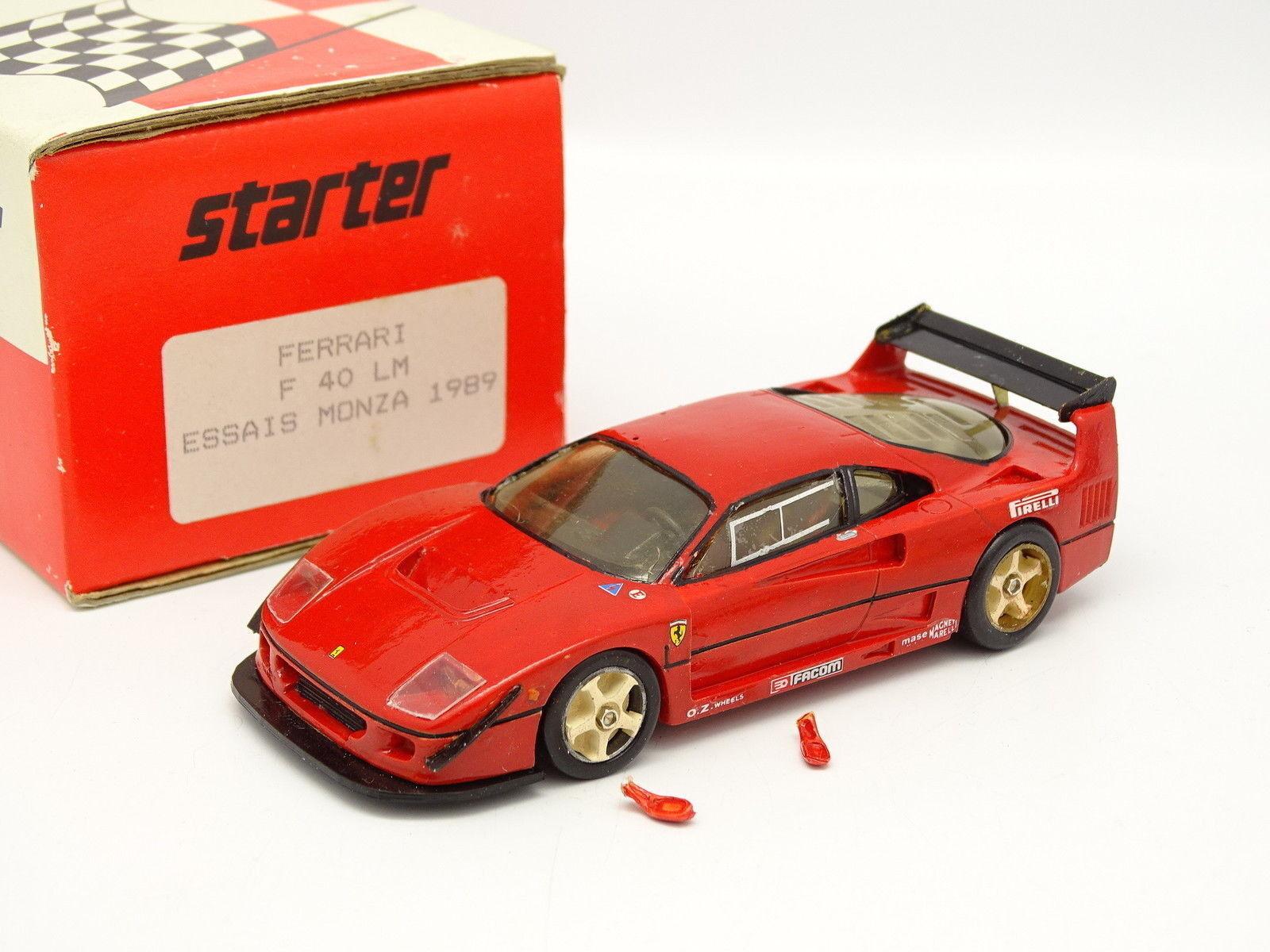 Kit De Inicio Montado 1 43 - Ferrari F40 LM Prueba Monza 1989