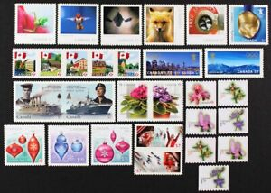 CANADA-2010-collection-of-29-different-booklet-and-coil-Die-Cut-stamps-Mint-NH