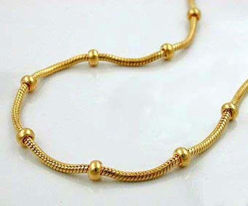 GOLD DOUBLE *** Kugelkette Schlangenkette mit Kugeln vergoldet 38-40-42-45-50 cm
