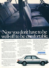 1986 Honda Accord 4-door Sedan Classic Vintage Advertisement Ad A63-B