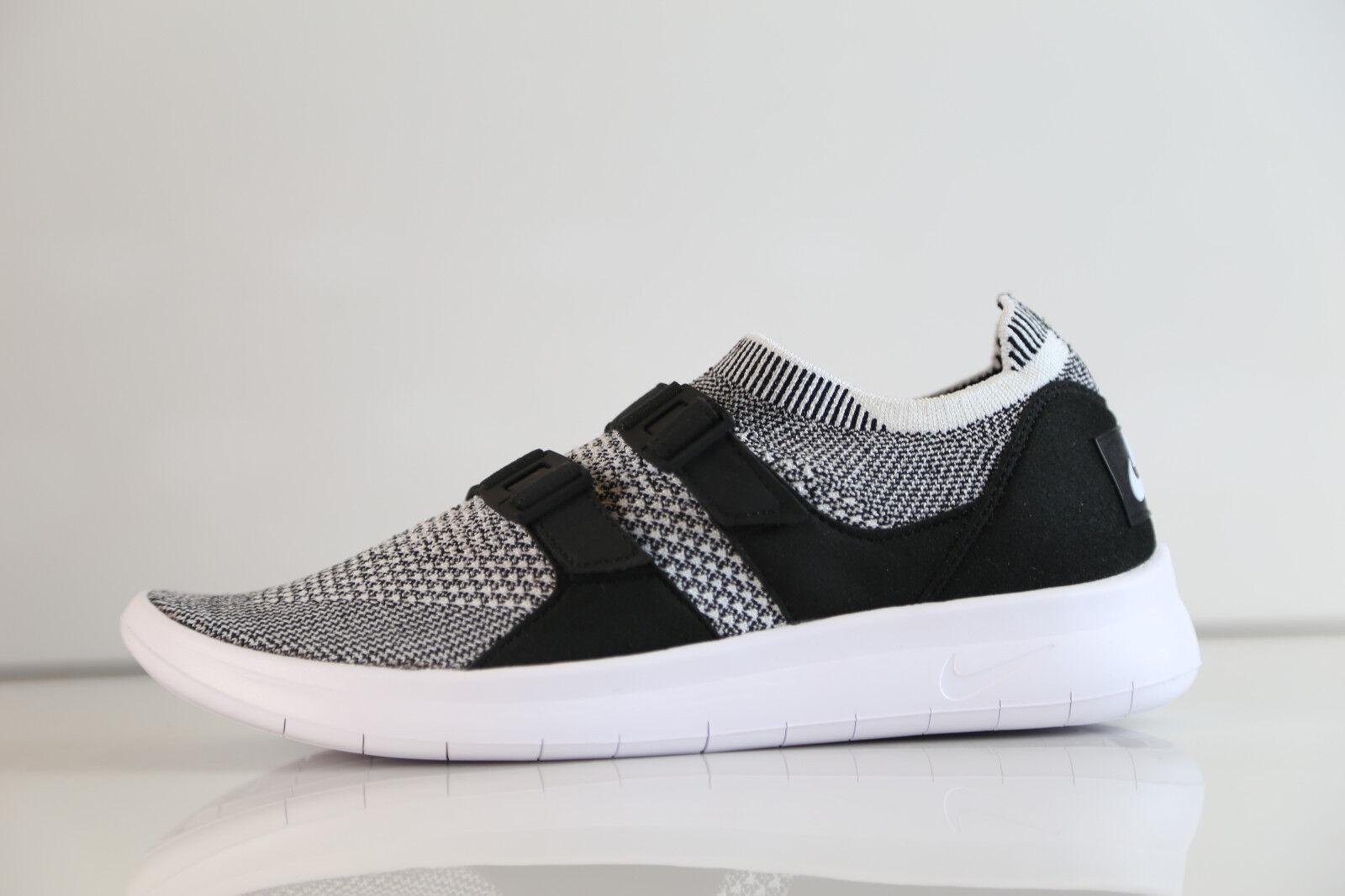Nike Womens Air SockRacer Flyknit Black White 896447-002 5-10 sock racer 1