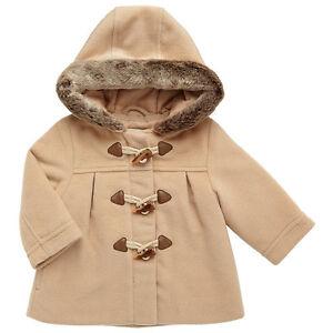 Ex John Lewis Baby Girls Teddy Fur Lined Hooded Jacket Coat  3 6 9 12 18 24 Mths