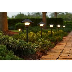 Hampton Bay Walkway Path Lights Low Voltage Integrated Led Flood Lighting 8 Pack