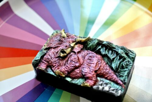 TRICERATOPS SILICONE MOLD  soap resin plaster wax clay mould SOAP DINOSAUR