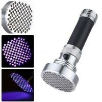 Ultraviolet Uv Flashlight 100led Bead Spot's Light For Authenticate Receipt