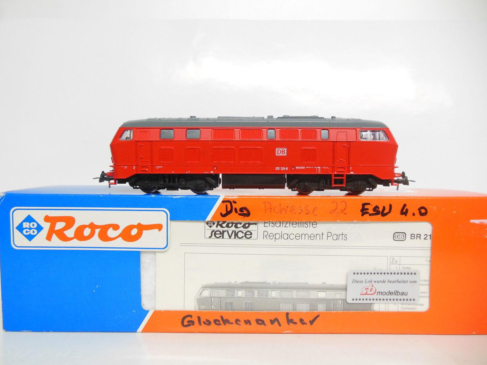 Roco 63490-br 215 126-4 DB AG-esu v4.0 + sb faulhaber-transformación-conduce 1. nata
