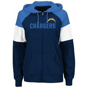 buy online 22cb0 d6ff9 San Diego Chargers Womens Sweatshirt Hot Route Zip Up Hoody ...