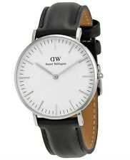 Daniel Wellington Watch * 0608DW Classic Sheffield 36MM Black Leather COD GDS17