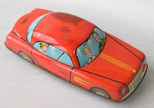 E. Flim Lemez 1:35 Hungary HUNGARIAN Family Tin Toy Friction Car 16cm Foreign