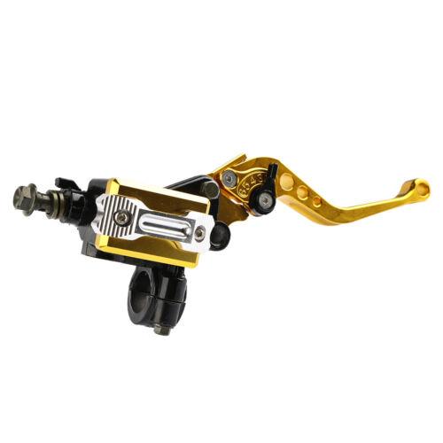 """7//8/"""" Motorcycle Brake Master Cylinder Clutch Storage Lever 22mm Handlebar Gold"""