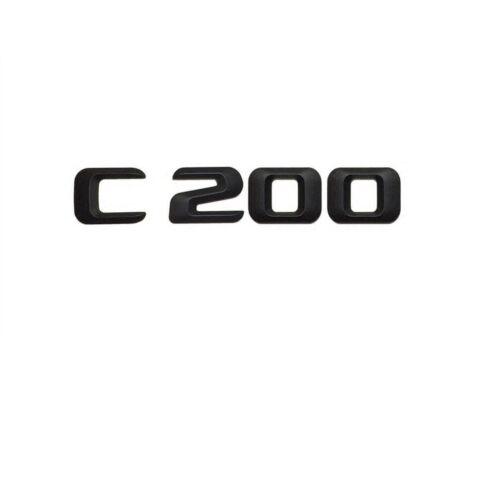 Black Trunk Letters Number Emblem Emblems Badge Sticker for Mercedes Benz C200
