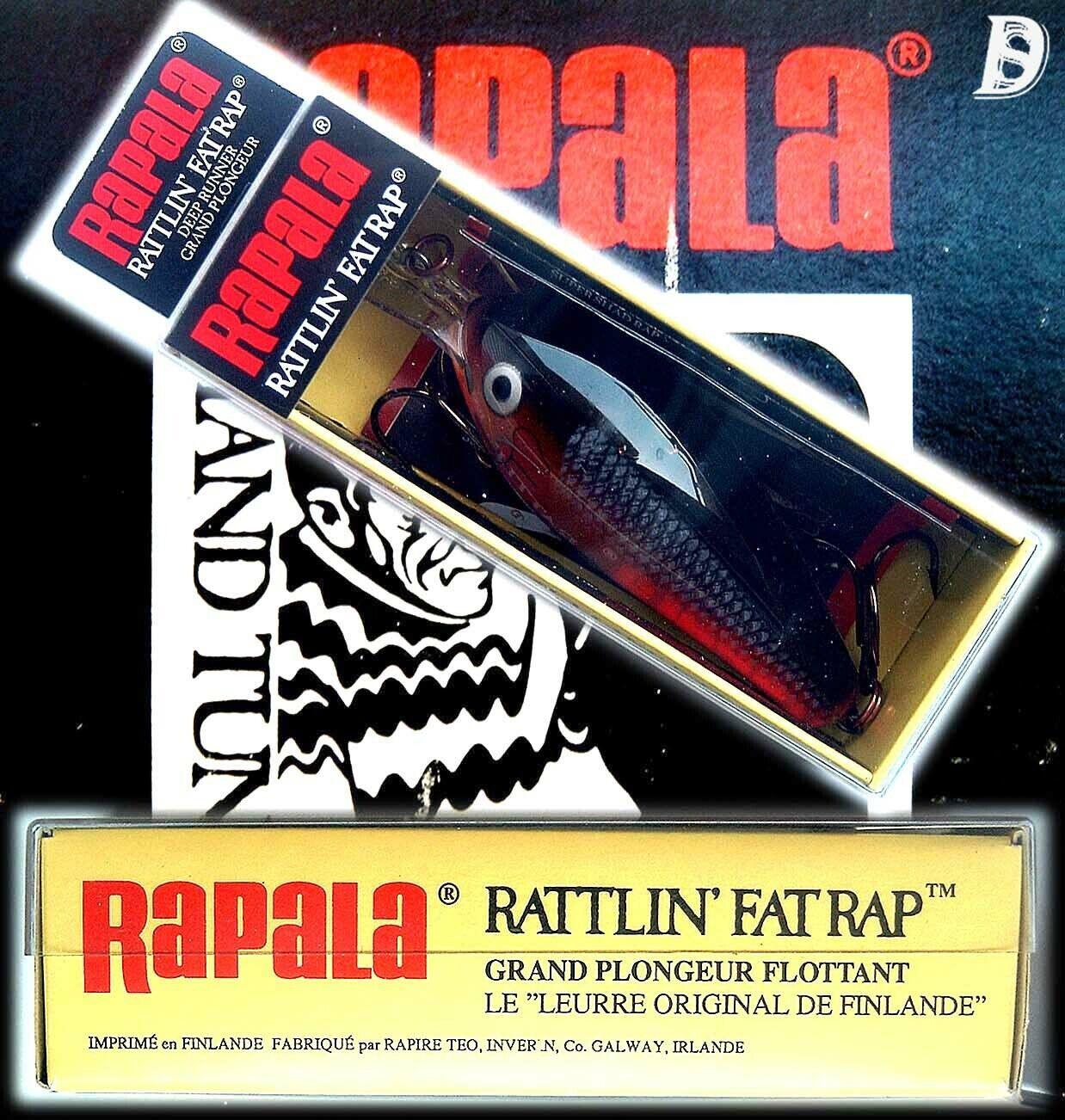 Vintage Rapala Rattlin Fat Rap 7cm PSD  New in Box Ireland was discontinued  the most fashionable
