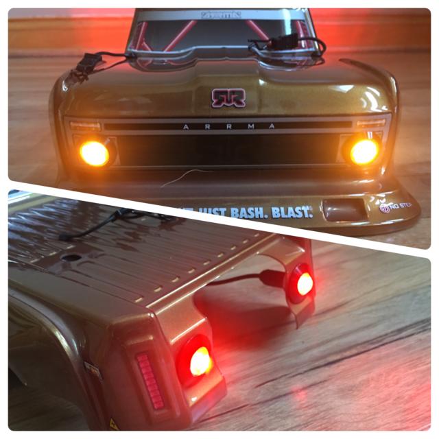 ARRMA INFRACTION Felony LED HD Lights Only  Headlights & Tail lights -HD2A2R