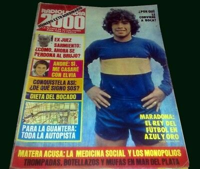 DIEGO MARADONA goes to BOCA 1981 Radilandia Magazine ...