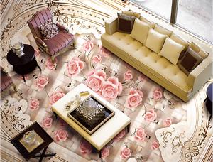 3D pink Pattern Art 477 Floor WallPaper Murals Wallpaper Mural Print AJ AU Lemon