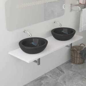 Vidaxl Waschtischplatte Fur Aufsatzbecken Weiss Waschtischkonsole 40 160cm Ebay