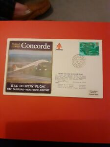 COVER BRITISH AIRWAYS CONCORDE BAC DELIVERY FLIGHT RAF FAIRFORD HEATHROW 1976