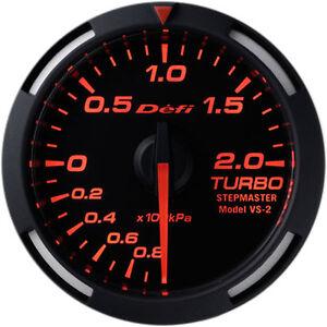 Defi Racer Gauge Turbo Boost Meter (-100kPa to +200kPa) 52mm Red DF06505
