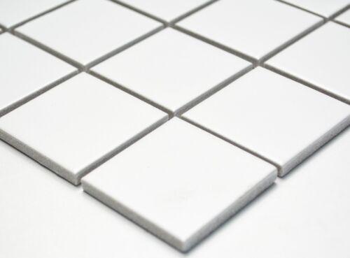 Mosaïque Carreau uni blanc mat Céramique Carreau Mur Sol DoucheTYPE 16b-0111/_b