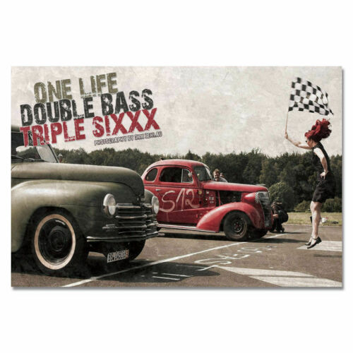 Rod Car Classic Vintage Retro Cool Car Fabric Decor Poster B658