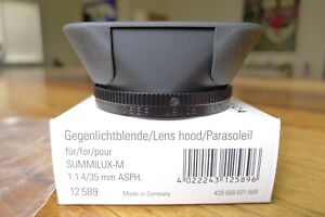 Leica-12589-Lens-Hood-35mm-ASPH-f-1-4-Looks-Never-Used-Box-Ships-today