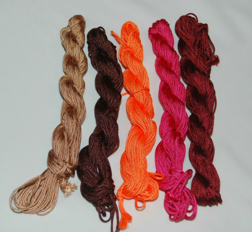 1-2 mm nylon hilo bastelfaden nylon thread nylon cuerda Shamballa cordel cuerda