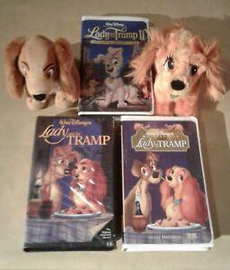Lady The Tramp Original Lot Of 3 Vhs Black Diamond Disney Stuffed Toys Rare Ebay