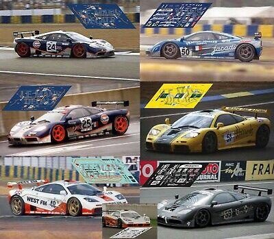 Calcas McLaren F1 GTR LM Press Presentation 1:32 1:43 1:24 1:18 1:64 1:87 decals