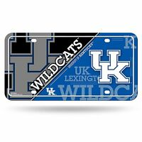 Kentucky Wildcats Uk Metal Car Tag Automobile License Plate Team Colors