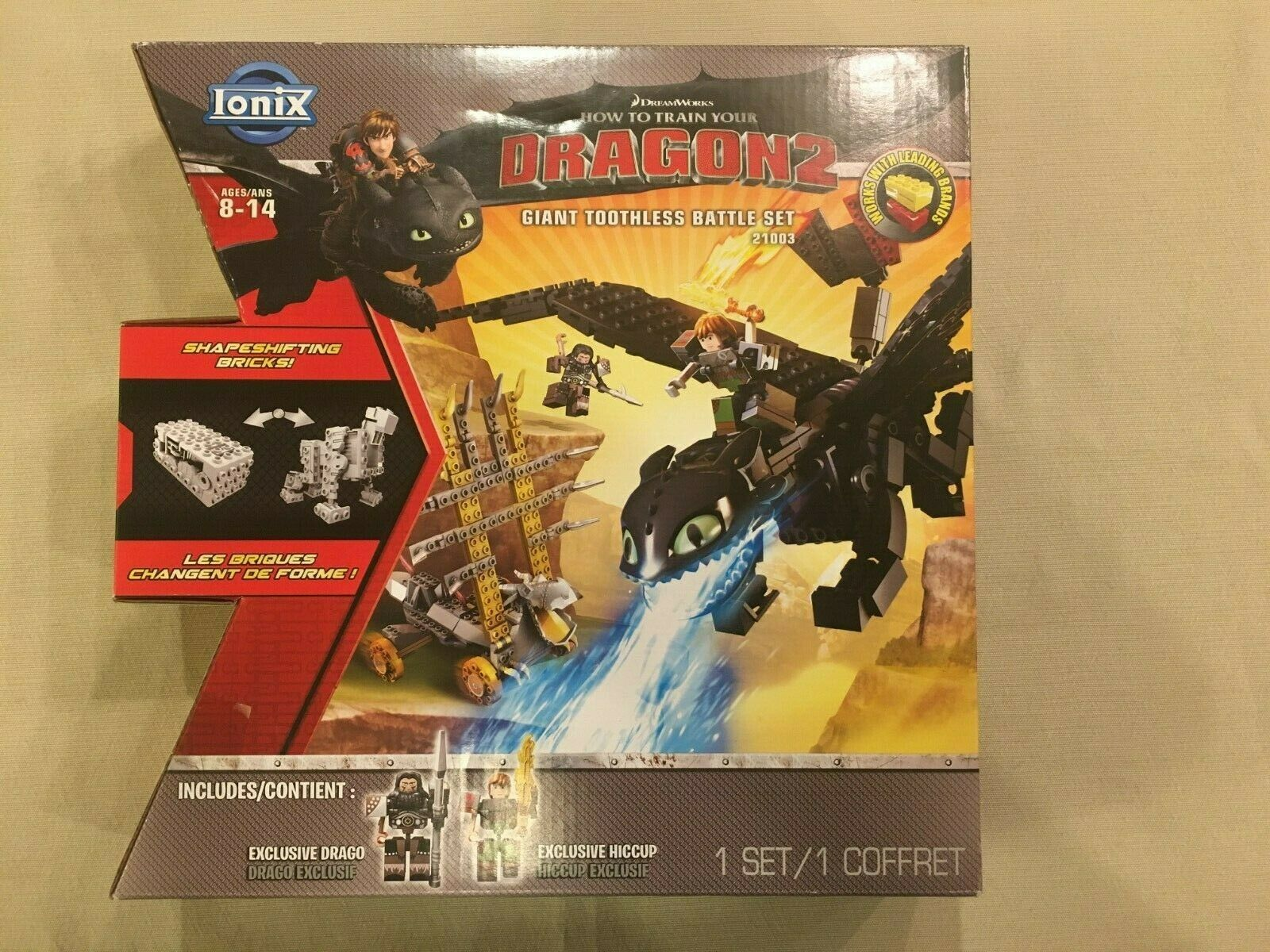 Ionix How To Train Your Dragon 2 Giant Toothless Battle Set 21003 New For Sale Online