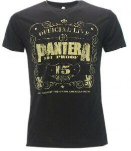 T Shirt Pantera Logo nera manica corta uomo-donna originale HEAVY METAL ORIGINAL