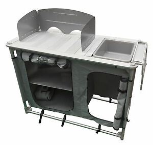 image is loading aluminium super light camping kitchen with sink bowl - Camping Kitchen