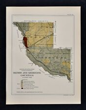 US CONFEDERATE STATES 1862 MO MAP ADAIR ANDREW ATCHISON AUDRAIN BARRY COUNTY xl