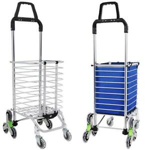 Details about Urban Stair Climbing Cart 8 Wheels Folding Grocery Laundry  Shopping US~ 02