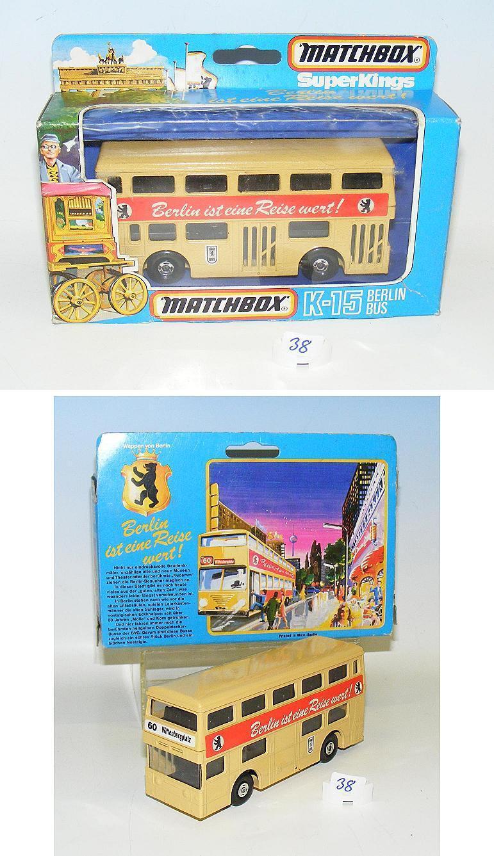 MATCHBOX Super Kings k-15 Berlin bus Berlin est un voyage valeur neuf dans sa boîte  038