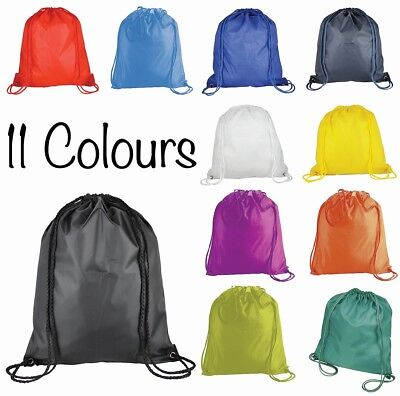 eBuyGB Childrens Nylon Drawstring Rucksack Bags