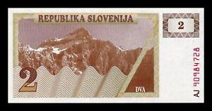 Audacieux B-d-m Eslovenia Slovenia 2 Tolar 1990 Pick 2 Sc Unc Petit Profit