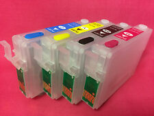 4 Refillable New Empty Reusable Ink Cartridge For Epson T1281 T1282 T1283 T1284