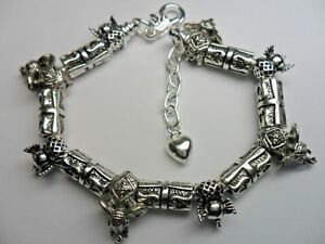 HANDMADE SILVER  ELEPHANT BRACELET WITH 15 CHARM BEADS - Sunderland, United Kingdom - HANDMADE SILVER  ELEPHANT BRACELET WITH 15 CHARM BEADS - Sunderland, United Kingdom