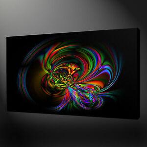 bunt abstrakte modernes design wandkunst leinwand druck bild ebay. Black Bedroom Furniture Sets. Home Design Ideas