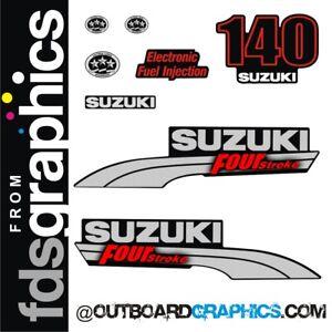 Suzuki-DF140hp-outboard-engine-decals-sticker-kit