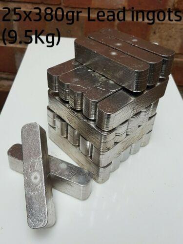 Scrap Lead Ingots 9.5kg 25x380gr Fishing Weights Bullets Ballast Sinkers