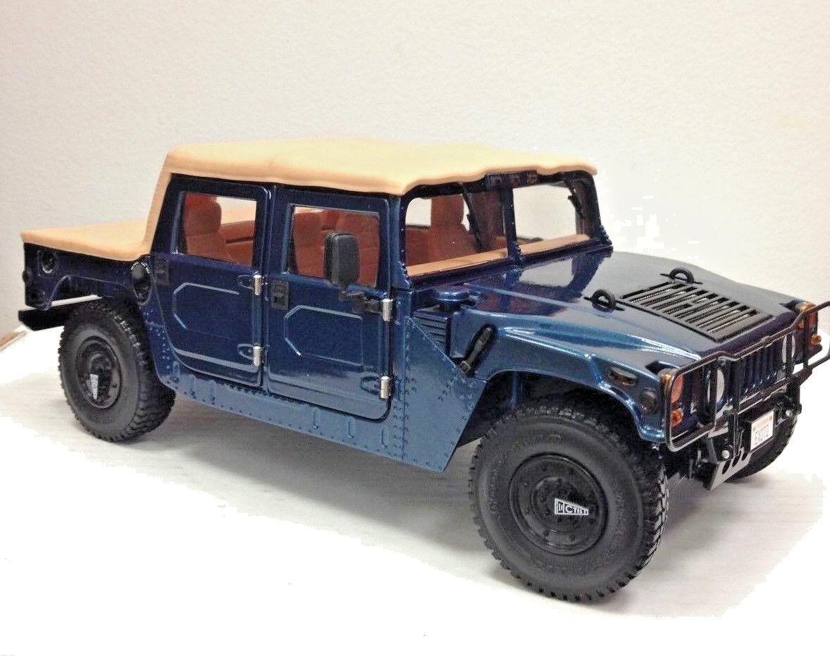 Exoto Exoto Exoto 1995 Am General Hummer Techo Blando   Azul Metálico 1 Of 1   1 18    tomamos a los clientes como nuestro dios