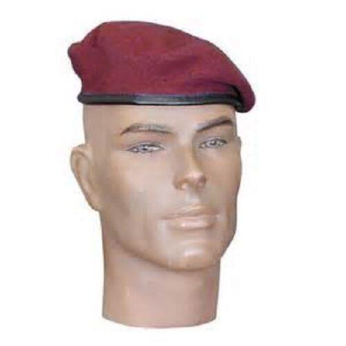 rouge des parachutistes TAILLE 55 Beret Amarante