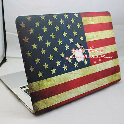 US Flag Design Rubberized Matt Hard Case Cover For  Macbook Pro 13 inch A1278
