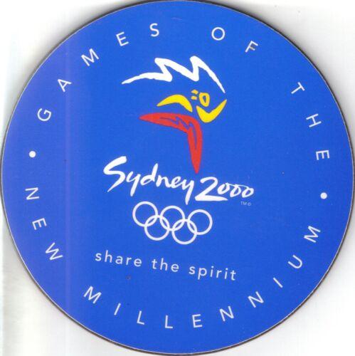 2000 OLYMPIC GAMES OF THE NEW MILLENNIUM    COASTER  SYDNEY OLYMPICS