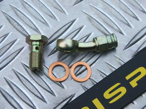banjo /& bolt 3//8 UNF Stainless braided hose fitting